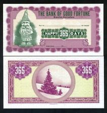 The Bank of Good Fortune, Happy 365 days, Christmas, Santa - Check