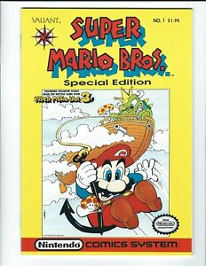 Super Mario Bros. #1 Special Edition 1990 1st Valiant Comic Book VF+ Low Print