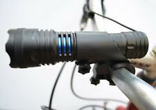 CREE LED Bike Bicycle Flashlight 800 Lumens Battery, Remote Wire, Charger, Mount