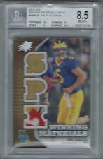 2010 UD SPX JOE FLACCO 4 COLOR GAME USED LOGO PATCH #D 047/125 BGS 8.5 NM-MT+