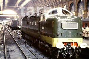 35mm slide British Rail loco diesel class 55 D9009 Kingscross 1960s r122