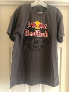 Red Bull 199 T-Shirt Size L Men Pastrana Worn Co-Lab Clean Tee Brown Red White