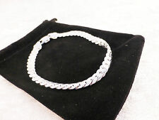 Silver Plated Unusual Linked Snake Chain Cuff/ Bangle / Bracelet + Free Gift Bag