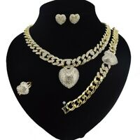 #41 HUGS &KISSES Cuban Links 18k Layered Real Gold Filled