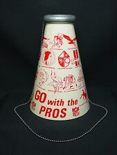 Vtg 1961 NFL Bullhorn Original 14 Teams Yell-a-Phone Old USA Football Megaphone
