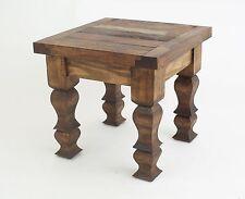 Rustic End Table-Natural-Mexican Folk Art-18x18x17-Furniture-Old Door-Primitive