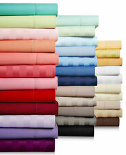 Bedding Collection Egyptian Cotton Solid/Striped Select Color&Item US Queen