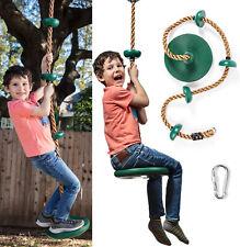 Tree Swing Gym Climbing Rope w/Platforms&Disc Swing Seat Playground Kids Outdoor
