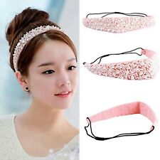 Beads Lady's Hair Accessories Elastic Hairband Hair Head Band Crystal Headband