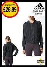 adidas Zip Waist Length No Pattern Coats & Jackets for Women