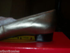 Talbots ladies' genuine leather low heel bronze shoes in Size 6M New