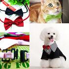 2x Fashion Dog Cat Pet Puppy Toy Kid Cute Bow Tie Necktie Collar Clothes New