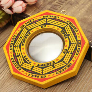 Traditional Chinese Feng Shui Dent Convex Bagua Mirror Lucky Blessing House JH