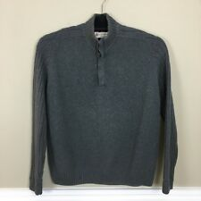 Marks & Spencer Blue Harbour Men's Gray Cotton Pullover Jumper Sweater Size XL