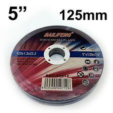 """10 PC 125mm 5"""" CUTTING DISC WHEEL Thin 4 Angle Grinder Stainless Steel Metal Cut"""