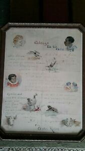 Great 1888 Chicago African Americana illustrated letter .watercolor.signed