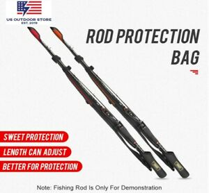 Fishing Rod Protection Bag Fishing Gear Rods Pole Storage Bag 102cm-152cm Belt