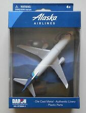 "ALASKA AIRLINES BOEING 737 MINIATURE AIRPLANE 5"" WINGSPAN DARON TOYS DIECAST NIB"