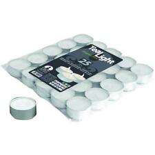 Candela Cera T-Light Blinky Blanco Caso 25 Piezas Mm.38X17h