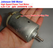 DC 6V 20000RPM High Speed Fan Power Electric Drill Tools Johnson RS-540 Motor