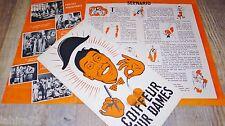 fernandel COIFFEUR POUR DAMES  ! rare  dossier presse cinema 1952