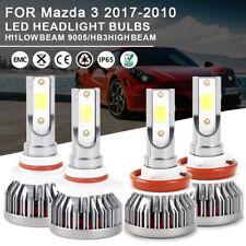 Combo LED Headlight Bulbs Kit 9005 H11 High Low Beam For Mazda 3 2017-2010