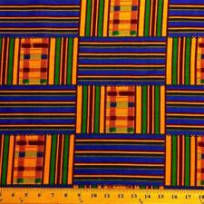 Kente African Print Fabric 100% Cotton 44'' wide sold by the yard (19008-1)
