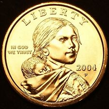 """2004 P Sacagawea Dollar US Mint Coin in """"Brilliant Uncirculated"""" Condition"""