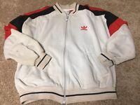 vintage ADIDAS zip up Sweatshirt tennis Jacket MEN'S small
