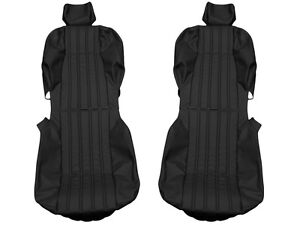 Fiat 124 CS1 CS2 Spider 68 - 85 Leather seat covers replacement (Black or Tan)