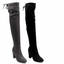 Markenlose Damenstiefel & -Stiefeletten im Boots-Stil aus Synthetik für Hoher Absatz (5-8 cm)