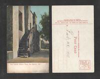 1910s SAN GABRIEL MISSION STEPS SAN GABRIEL CAL POSTCARD