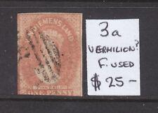 New listing Tasmania: One Penny Chalon Vermilion? Asc 3a Nice Stamp.