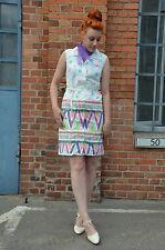 Kleid Sommerkleid dress Spitzkragen Floral Prilblumen 70er True VINTAGE 70´s