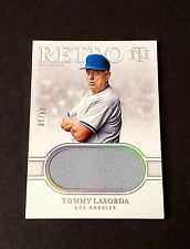 2020 Panini National Treasures Tommy Lasorda Game Used Jersey 4/10 Dodgers ⚾️⚾
