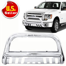 3'' Stainless Steel Chrome Bull Bar Grille Push Guard For 2004-2018 Ford F150