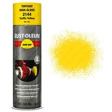 x 15 INDUSTRIEL Rust-Oleum TRAFIC JAUNE Peinture aérosol solide CHAPEAU 500ml