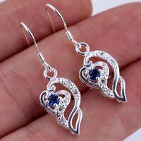 Kreative Ohrringe Saphir 925 Silber Unregelmäßige Ohrringe Exquisite Geschenk hq