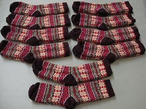 NWOT Women's Merino Wool Blend Socks Shoe Size 6-9 Multi 10 Pair #956A