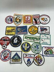 Lot Of 20 Vintage 1990's SOCCER PATCHES Club Tournament Great Set A