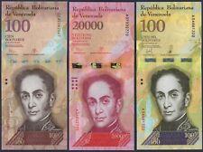 VENEZUELA 100-20000-100000 BF***ND 2015-2017***UNC-GEM***USA SELLER