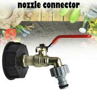 IBC-Adapter mit 1/2 Messing-Auslasshahn für Regenwassertank Regenwasserfass Y6L5