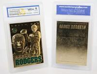 AARON RODGERS Sculptured 2008 Gold Card Graded GEM MINT 10 Green Bay Packers