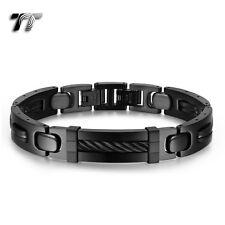luxury Quality TT Thick Black Stainless Steel Bracelet (BBR230D) NEW