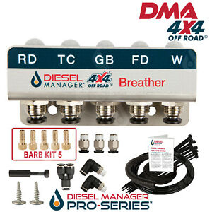 DIFF BREATHER KIT 5 PORT FORD RANGER PX3 4x4 4WD Including Winch DB905/1UB