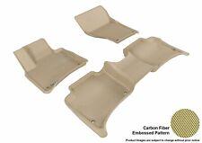 For 11-16 Porsche Cayenne Kagu Tan All Weather Floor Mat Set