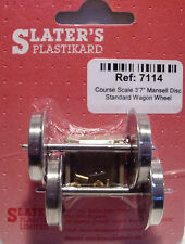 Slaters 7114 1 x Pair Course Mansell Wagon Wheels & Brass Bearings 0 Gauge - T48