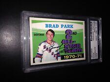 Brad Park Signed 1971-72 O-Pee-Chee OPC AS Card Rangers PSA Slabbed #83854381