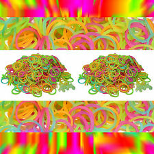 GLOW IN THE DARK-1200 LOOM RUBBER BANDS REFILL & S-CLIPS - for Rainbow Loom