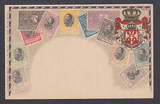 Zieher #31 unused PPC. Stamps of Serbia, Embossed
